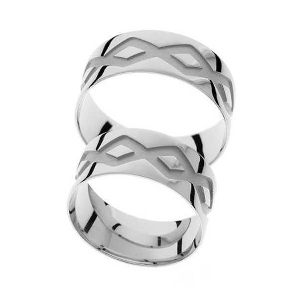 Snubní prsteny - žluté zlato - A1114