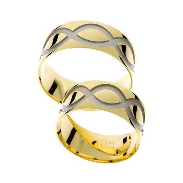 Snubní prsteny - žluté zlato - A1115