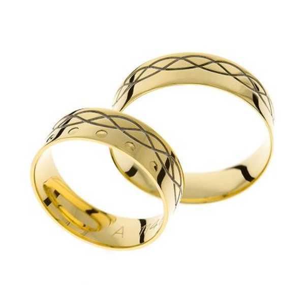 Snubní prsteny - žluté zlato - A1147